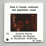 Diapositive 07 Ardèche Auberge De Sagnes Et Goudoulet - Diapositives