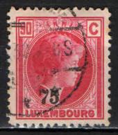 LUSSEMBURGO - 1927 - EFFIGIE DELLA GRANDUCHESSA CARLOTTA CON SOVRASTAMPA - OVERPRINTED - USATO - 1926-39 Charlotte Di Profilo Destro