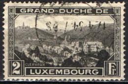 LUSSEMBURGO - 1928 - PANORAMA DI CLERVEAUX - USATO - 1926-39 Charlotte Di Profilo Destro