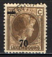 LUSSEMBURGO - 1935 - EFFIGIE DELAL GRANDUCHESSA CARLOTTA CON SOVRASTAMPA - USATO - 1926-39 Charlotte De Perfíl Derecho