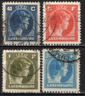 LUSSEMBURGO - 1944 - EFFIGIE DELLA GRANDUCHESSA CARLOTTA - NUOVO TIPO - USATI - Lussemburgo