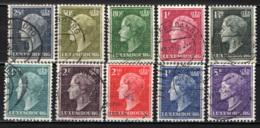 LUSSEMBURGO - 1948 - EFFIGIE DELLA GRANDUCHESSA CARLOTTA - PROFILO SINISTRO - USATI - Lussemburgo