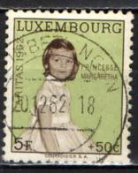 LUSSEMBURGO - 1962 - PRINCIPESSA MARGARETHA - USATO - Usati