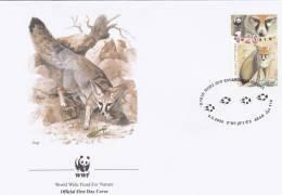WWF - 271,21 - FDC - € 1,20 - 3-5-2000 - 1,20S. - Blanford's Fox - Israel - W.W.F.