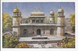 Etmad Dowlah's Tomb, Agra   - Tuck Oilette 7237 - India