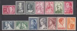 Grece 1957 - Royal Families, Mi-Nr. 654/67, MNH** - Grèce