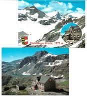 1698w: 2 AKs Duisburger Hütte, 9831 Flattach Im Mölltal, Ungelaufen Mit Hüttenstempel - Spittal An Der Drau