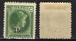LUSSEMBURGO - 1927 - EFFIGIE DELLA GRANDUCHESSA CHARLOTTE - MH - 1926-39 Charlotte Di Profilo Destro