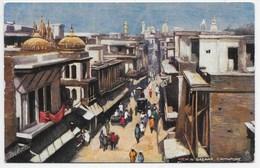 View In Bazaar, Cawnpore - Tuck Oilette 7234 - India