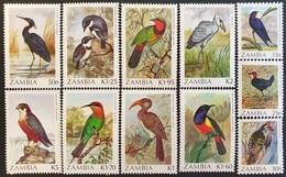 #Zambia 1987-88** Sc.377-87  Birds, MNH [26;78] - Birds