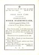 Faire-part Décès Charles Jean STIER D'AERTSELAER Décédé à Grammont 25/6/1848. - Obituary Notices
