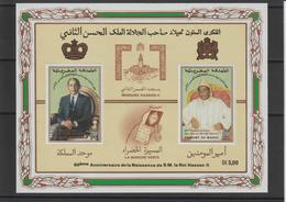 Maroc 1989 BF 17 60ème Anniversaire Du Roi Hassan II Neuf ** MNH - Maroc (1956-...)