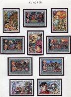 11404  COMORES  Collection Vendue Par Page   N° 133/7 + 145/9 **  1976   TB/TTB - Comoros