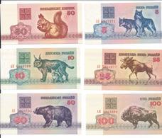 BIELORUSSIE   Lot De 6 Billets  1992   -- UNC -- - Bielorussia