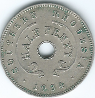 Southern Rhodesia - George V - 1934 - ½ Penny - KM6 - Rhodésie