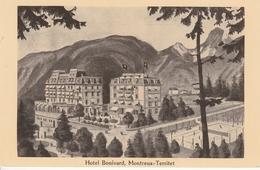 MONTREUX-TERRITER HOTEL BONIVARD COPIE D'UN DESSIN - VS Valais