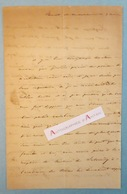 L.A.S Comtesse De LIPPE - Mont De Marsan (Landes) - De Salvandy - Lettre Autographe LAS à Identifier - Noblesse - Autographs