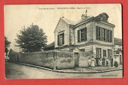 CPA 60 Environs De Senlis. COURTEUIL-Mairie Et Ecole ( Personages.) - Non Classificati