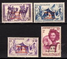 Mauritanie - Colonie Française - 1941 - N° 119 à 122 Neuf - Secours National - Mauritanie (1906-1944)