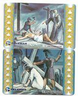 LSJP BRAZIL PHONECARD CRUCIFIXION OF JESUS TELEMAR - Brésil