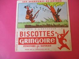 Buvard/Biscottes/GRINGOIRE/Les Aventures Gringo/Retour à L'envoyeur/Pithiviers Gâtinais/Delcey/Dôle/Vers 1940-60  BUV430 - Zwieback