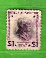 (Us2) USA °- 1938 - Série Courante, Présidents. W. Wilson. 1 D.. Yvert 397.   USED.  Vedi Descrizione - Stati Uniti