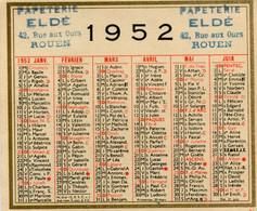 CALENDRIER(1952) - Calendriers