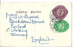 EIRE Ireland 1951 Post Card To England Postal Stationery - Entiers Postaux