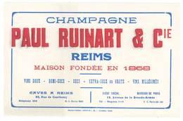 Buvard Champagne Paul Ruinart & Cie , Reims - Buvards, Protège-cahiers Illustrés
