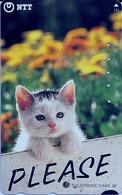 LSJP JAPAN PHONECARD (8) FAUNA CAT - Gatos