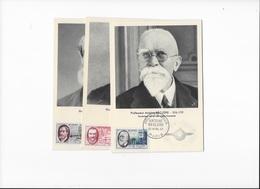 Carte Maximum Les 3 Cartes Personnages Celebres 13 Avril 1957 - 1950-59