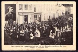 NINOVE 1910 ** GEDENKENIS TERAARDEBESTELLING VAN DEN HEER DOKTER EMIEL DE MOL * - Ninove