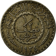 Monnaie, Lebanon, 1/2 Piastre, 1934, Paris, TTB, Copper-nickel, KM:9, Lecompte:4 - Liban