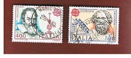 ITALIA REPUBBLICA  - UNIF. 1645.1646 -      1983  EUROPA                                 -      USATO - 6. 1946-.. Repubblica