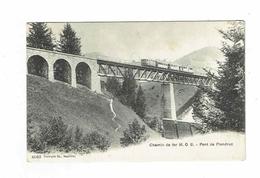 CPA Suisse - District Du Pays D'en Haut - Pont De Flendruz - Chemin De Fer MOB - Phototypie Nauchâtel - VD Vaud