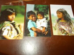 B717  6 Cartoline Bambini Centroamerica Non Viaggiate Pieghine Angoli - Bambini