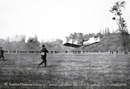 Santos Dumont Vole à 2 M à Bagatelle En 1906. Cpsm Neuve. - Aviateurs