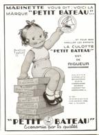 """PUB  SOUS VETEMENT """" PETIT BATEAU  """"  1932 ( 1 ) - Other"""