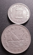 Monnaie, Malte, 5   Et 10  Cents, 1972, British Royal Mint, FDC, Copper-nickel, (B909) - Malta