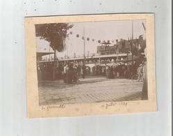 BORDEAUX (GIRONDE) PHOTO TRAIN A VAPEUR SUR LA PASSERELLE EIFFEL 1899 - Orte