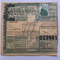 France Colis Postaux > 15 Kilos YT 202 (4f70) (F) Vert, Liqueurs Verveine Novembre 1943 Le Puy En Velay Marseille – 356 - Covers & Documents