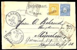 DUTCH INDIES. 1899. Sragen - Germany. PPC Fkd 5c + 2 1/2c. Blue Stline. Several Transits. VF. - Indes Néerlandaises