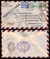 PERU. 1946. Lobitos / Receptoria - UK. Air (Nora + Lantico) Registr Multifkd Env. Scarce Origin. - Peru