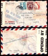 PERU. 1944. Lobitos / Receptoria - UK. Registr Censored. Air NY Fkd Env. Scarce Origin. - Peru