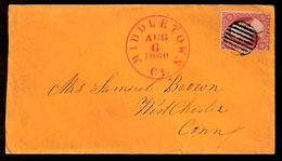 USA. 1860. Middletown / C+ - Westchester. 3cts Fkd Env. Beauty. - Unclassified