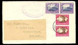 """BC - Tristan Da Cunha. 1951. Tristan - S. Africa. Env. Violet Oval Cachet """"TRISTAN DA CUNHA / South Atlantic Ocean"""". S. - Unclassified"""