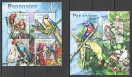 QQ809 2013 MOZAMBIQUE MOCAMBIQUE FAUNA BIRDS PARROTS PAPAGAIOS KB+BL MNH - Perroquets & Tropicaux