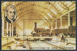 Sao Tomé E Principe 1982 B 113A (=Mi 814) YT B37 ** Locomotive Depot In Swindon - Great Western Railway - Sao Tome En Principe