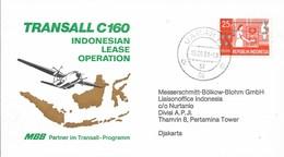 TRANSALL C30    - 1981 FFC  INDONESIAN LEASE OPERATION  COMMEMORATIVE COVER - Aviones