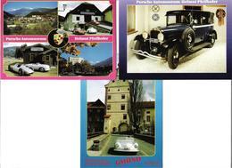 1698m: 3 AKs 9853 Gmünd, Porsche- Museum Von Helmut Pfeifhofer, Ungelaufen - PKW